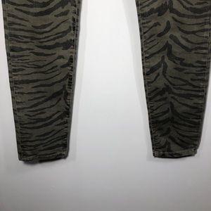 Current/Elliott Jeans - Current Elliott Olive Zebra Ankle Skinny Jeans